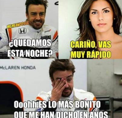 Fernando Alonso encuentra la felicidad fuera del coche