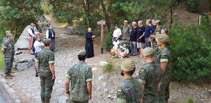 Homenaje al militar Antonio Herrero, fallecido en 1994 en la marcha Des Güell a Lluc a Peu