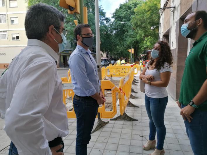 Palma renueva las aceras y alcorques de Indalecio Prieto en Son Gotleu