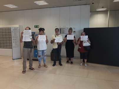 Stop Desahucios ocupa una entidad bancaria exigiendo parar 30 desahucios