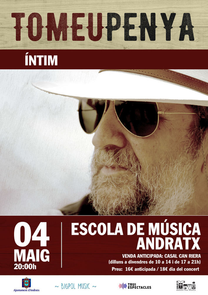 Tomeu Penya presenta 'Íntim' este sábado en Andratx