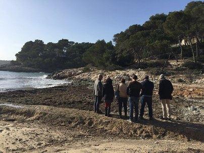 La borrasca Gloria causa serios daños a las playas y calas de Santanyí