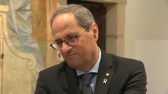 Torra espera que Junqueras pueda ejercer de eurodiputado