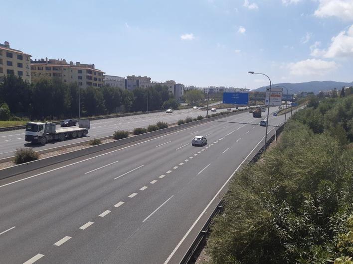 El tráfico se reduce hasta un 95 por ciento en las carreteras de Mallorca durante el confinamiento
