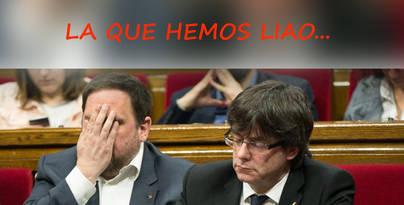 """La noticia falsa del Viral. Junqueras a Puigdemont: """"Uy, uy, uy... La que hemos liao"""""""