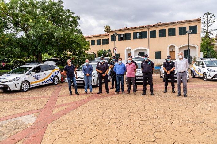 Marratxí presenta la nueva flota de vehículos híbridos y eléctricos para la Policía Local