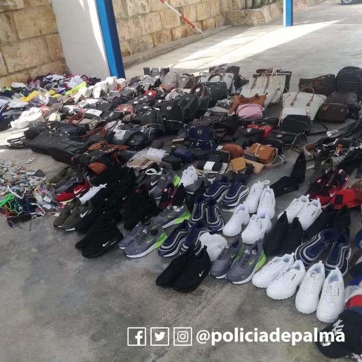 Herido un Policía Local tras detener a un vendedor ambulante ilegal en Palma
