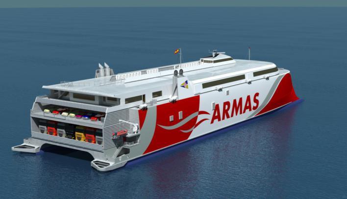 Trasmediterránea estrenará en Baleares el catamarán más avanzado del mundo
