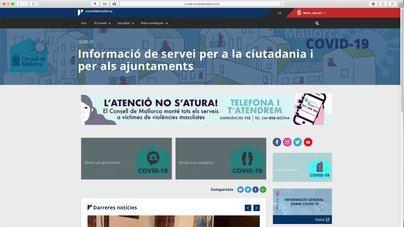 El Consell de Mallorca crea una web con información sobre el COVID-19