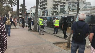 Una operación de la Policía Local acaba con 26 detenidos por trile en Playa de Palma