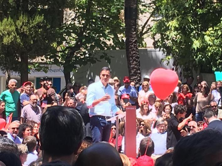 Sánchez pide en Palma concentrar el voto en el PSOE para 'frenar a las tres derechas'