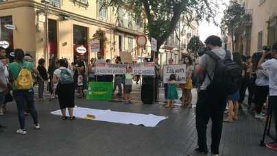 Educadores infantiles se concentran para pedir que su salario llegue a los 1.000 euros
