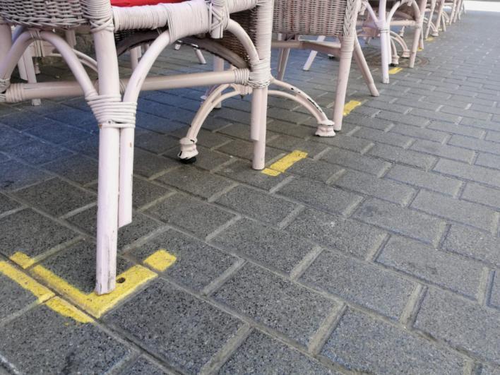 Arca denuncia las pintadas de Cort para delimitar el uso de las terrazas