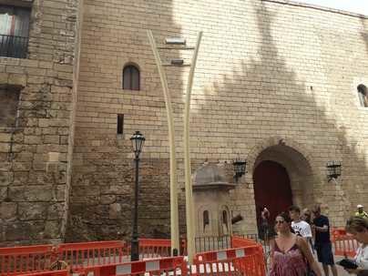 Arca rechaza la colocación de las nuevas farolas de diseño frente a la catedral