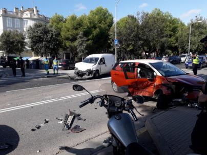 Persecución policial en el Coll d'en Rabassa