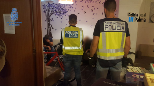 Dos detenidos de la Asociación de consumidores de marihuana en Palma por vender droga