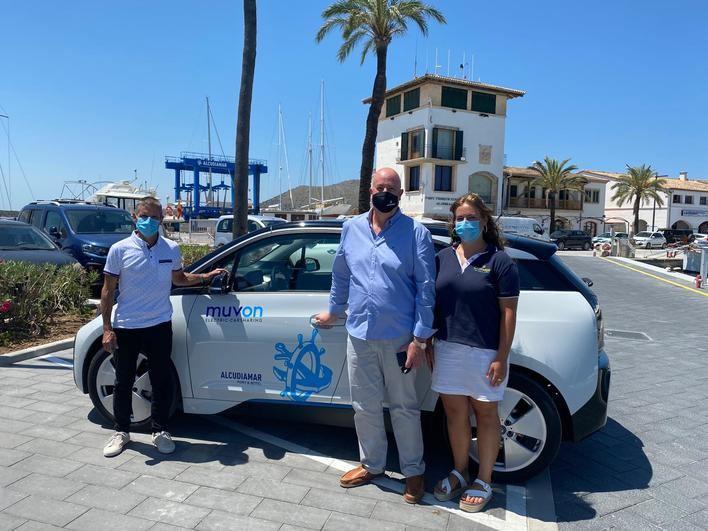 Alcudiamar y Muvon se unen para reforzar la movilidad eléctrica sostenible en el puerto