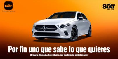 Sixt incorpora el nuevo Mercedes Benz Clase A a su flota de vehículos en España