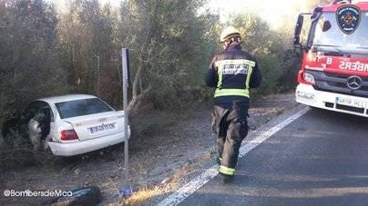 Un joven de 27 años queda en estado crítico tras un accidente de coche en Santa Margalida