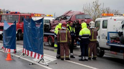 Ocho heridos leves en el accidente múltiple de la Autopista Andratx-Palma