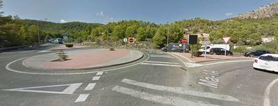 Dos heridos en un accidente en la carretera de Andratx a la altura de Camp de Mar