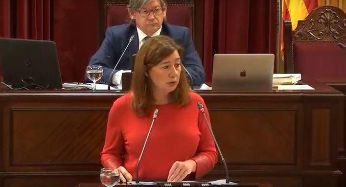 Armengol: 'Baleares ha actuado antes que otras comunidades en peor situación'
