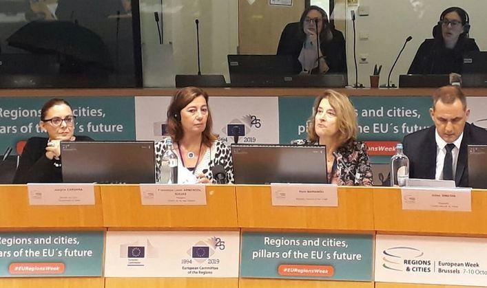 Armengol lamenta que las islas sean tratadas desde la UE de igual forma que el continente europeo