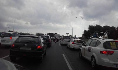 Retenciones en la carretera de Andratx en sentido Palma por un accidente