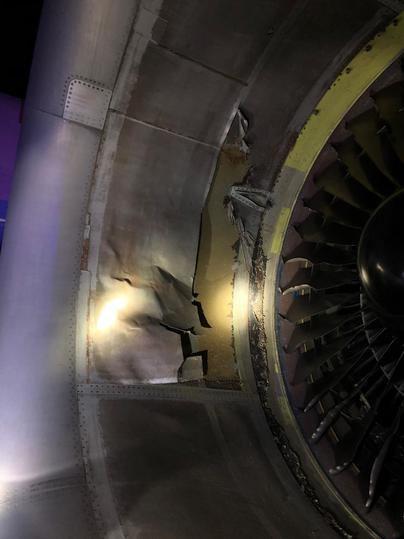 Desperfectos en el motor del Boeing