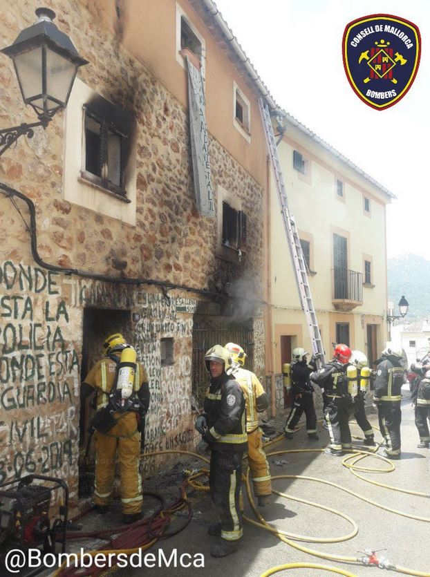 Extinguido el incendio de una casa en Bunyola cuya inquilina iba a ser desahuciada