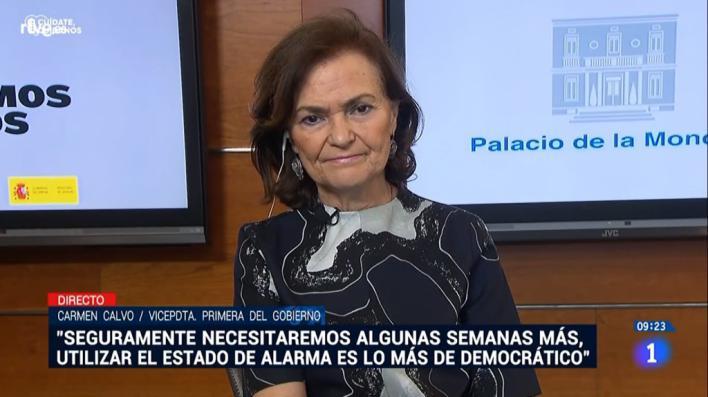 Calvo avisa que será necesario el estado de alarma más allá del 24 de mayo