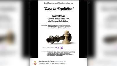 El Ayuntamiento convoca un acto en Palma en favor de la Rep�blica
