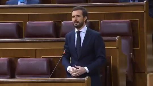 Casado, muy duro contra Sánchez, pide la destitución de Marlaska por el cese de De los Cobos