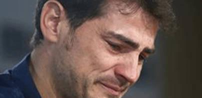 Iker Casillas rompe a llorar en su despedida del Real Madrid