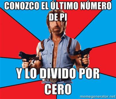 Chuck Norris aniquila el número Pi
