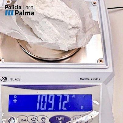 Detenido en Palma con una roca de cocaína de cien gramos en su coche