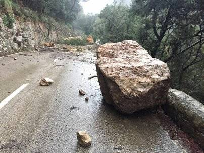 La carretera del Coll de Sóller permanecerá cerrada todo el fin de semana