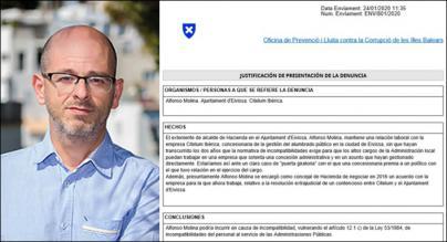 La Oficina Anticorrupción de Baleares tramita una denuncia contra Molina y Citelum