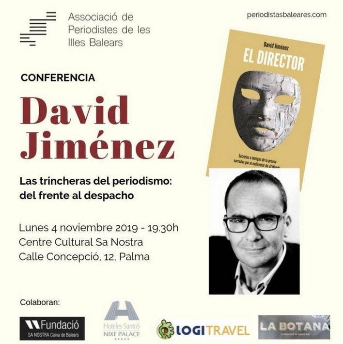 El periodista David Jiménez imparte una conferencia sobre los secretos de la prensa