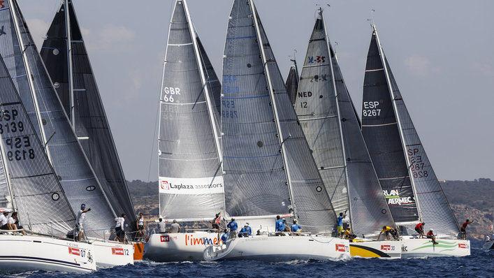 70 barcos de 20 países forman parte de la clase BMW ORC de la Copa del Rey de Vela