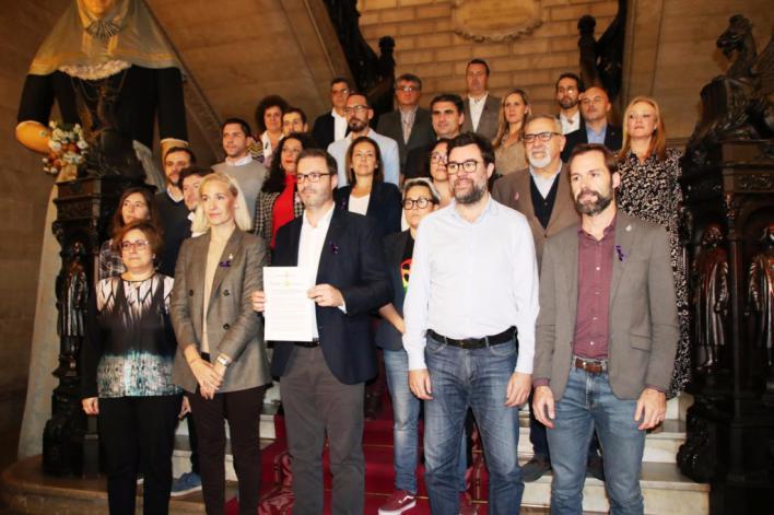 PSIB, Més, Unidas Podemos, PP y Cs firman la moción contra la violencia machista