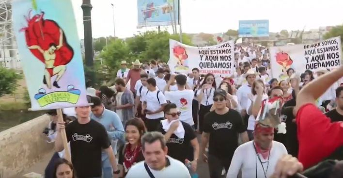 'Culiacán valiente', una marcha por la paz tras el arresto del hijo de 'El Chapo'