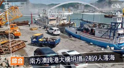 Al menos 20 heridos tras el derrumbe de un puente en el noreste de Taiwán