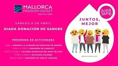 Diada por la donación de sangre en el Mallorca Fashion Outlet
