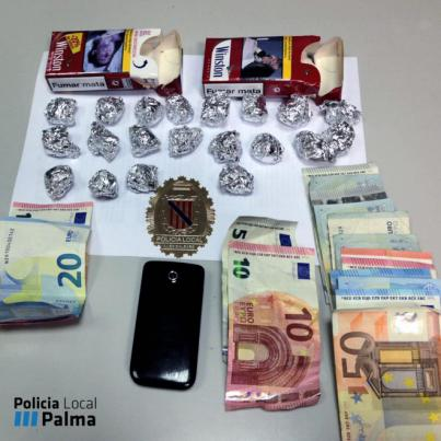 Intervenidos 2,5 kilos de cocaína a cuatro detenidos por tráfico de drogas