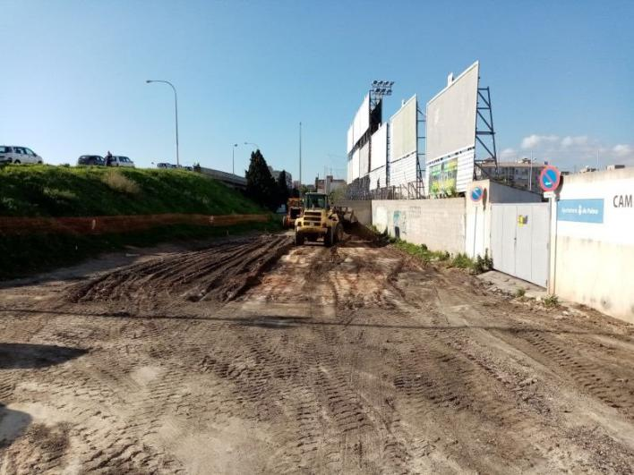 La explanada de delante del campo de fútbol de Es Rafal será un aparcamiento