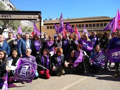 Estudiantes y sindicatos salen a la calle para apoyar la reivindicación del 8M
