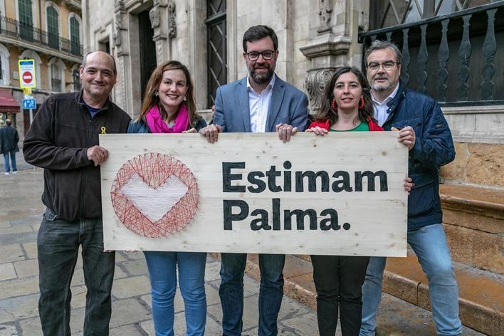 La lista de Noguera se presenta a Cort bajo el nombre 'Més per Palma-Estimam Palma'