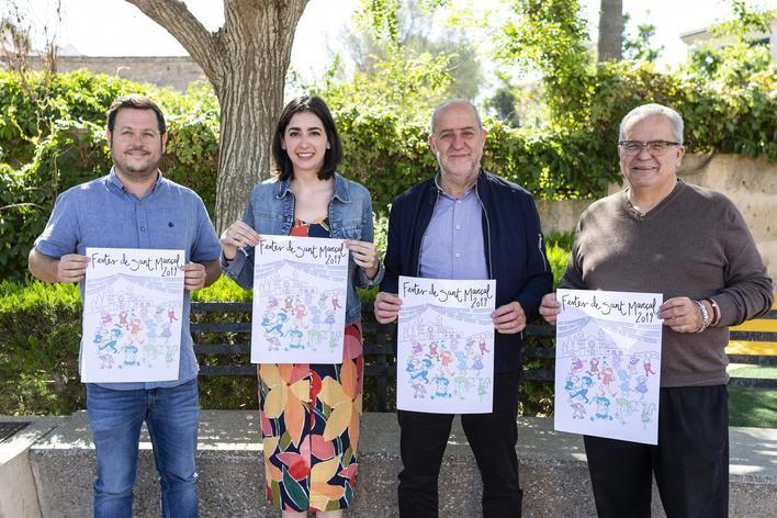 Maria Llauradó, ganadora del concurso del cartel de las fiestas de Sant Marçal de Marratxí