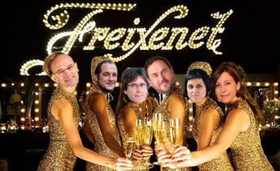 El Procés se pasa a las burbujitas Freixenet: